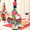 Knitted Scarf Hat Wine Bottle Cover Christmas Decoration - MULTI-A
