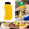 3 in 1 Multi-function Creative Kitchen Cleaning Silicone Dishwashing Brush - YELLOW