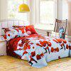 Christmas Joy Santa Happy Gifts Foreign Trade 3D Bed Home Furnishing Bedding 3pcs - RED