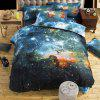 Starry Sky Style Three-piece Solid Color Bedding Set for Home Hotel - BLUE