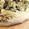 White Long Hair Christmas Tree Skirt Decoration - WHITE