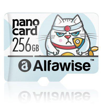 Alfawise A256U3 256GB UHS - 3 XC High Speed High Capacity Micro SD Card - Multi Light Sky Blue 256GB