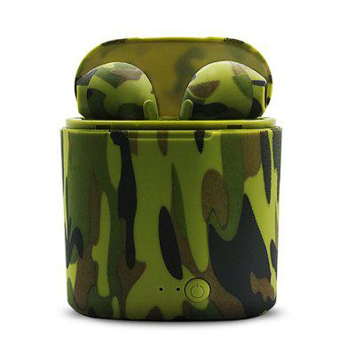 gocomma i7s Camouflage TWS Painted Wireless Bluetooth Headset with Charging Compartment