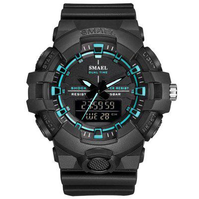 SMAEL 1642B Waterproof Quartz Multi-function Men's Street Trend Electronic Watch