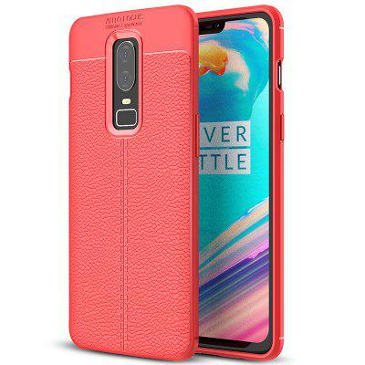AISLING Litchi Leather Series-telefoonhoes voor OnePlus 6