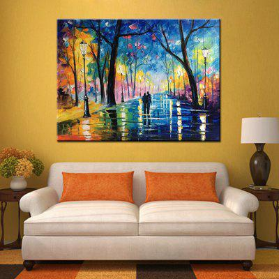 Mintura MT161084 Pure Hand-painted Frameless Modern Abstract Decorative Park Flower Tree Oil Painting