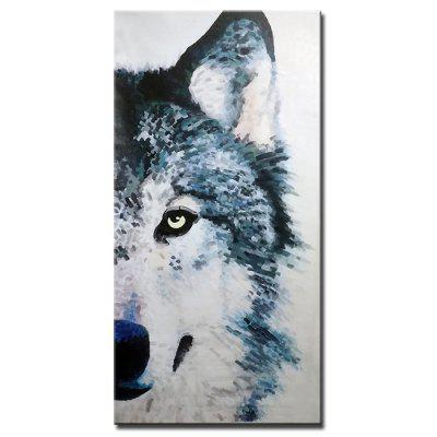 Mintura Hand-painted Oil Painting Frameless Modern Abstract Decorative Painting Animal Wolf