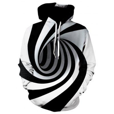 3D Digital Vortex Personality Print Hooded