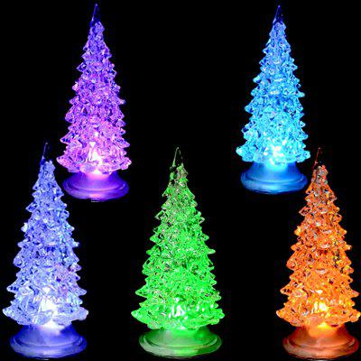 Glitter Tree Christmas Light Sept Couleurs