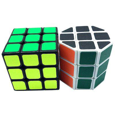 Dezvoltare Puzzle Două Combinație Magic Cube 2pcs