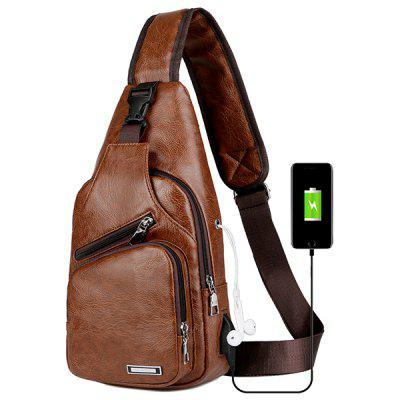GearBest coupon: USB Charging Chest Bag Casual Fashion