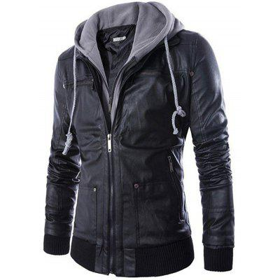 PU Leather Motor Jacket for Men