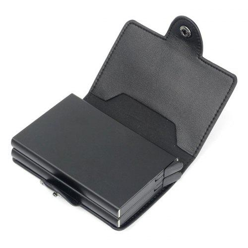 Automatic Pop-up Metal Wallet Anti-theft Anti-magnetic Aluminum Alloy Card Holder