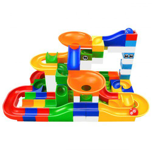 Marble Race Run Maze Ball Track Funnel Slide Building Block Toy 104PCS