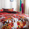 Christmas Joy Santa Happy Gifts 3D Bed Home Furnishing Bedding 3pcs - RED