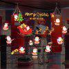470 Christmas Window Porch Cabinets Holiday Decoration Wall Stickers - RED