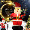 Inflatable Small Cane Santa Claus Lights Electric  Large Outdoor Christmas Decoration - MULTI-A