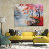 Mintura MT161097 Pure Hand-painted Oil Painting Frameless Modern Abstract Woods Landscape - MULTI-A