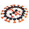 Ceramic Floor Levelers Tools T Tile Leveling Machine 50PCS - ORANGE