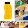 3-in-1 Silicone Dish Brush Washing Scrubber - YELLOW