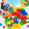 Marble Race Run Maze Ball Track Funnel Slide Building Block Toy 104PCS - MULTI