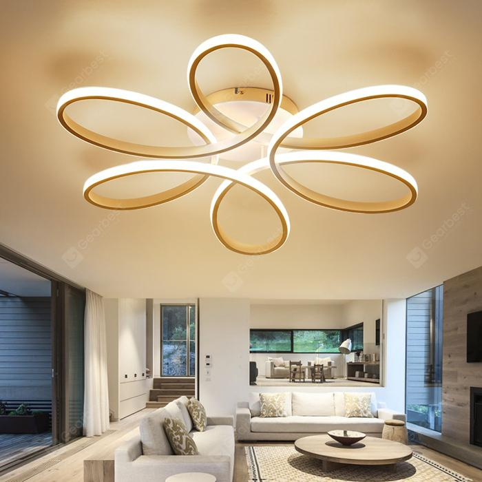 Utorch Modern Simple Floral Shape LED Ceiling Light AC 220 - 240V - White Warm White Light