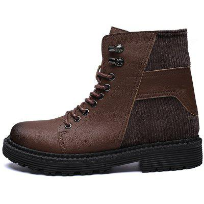 Men Skid-proof Warming Wear-resistant Stylish High-top Shoes