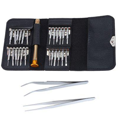 27 in 1 Magnetic Wallet Type Screwdriver Set Pocket Impact Small Screwdrivers with Torx Flat Cross Triangle Head Bits Kit
