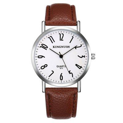 KINGNOUS 011 Casual Business Belt Men  's reloj impermeable