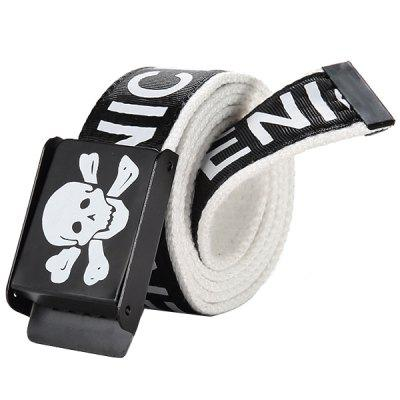 Casual Business Smooth Buckle Canvas Belt