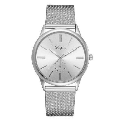 Lvpai P733 Alloy Silicone Hand Form Eye Four-needle Casual Quartz Watch