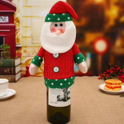 Christmas Decorative Brushed Cloth Big Head Doll Wine Bottle Cover