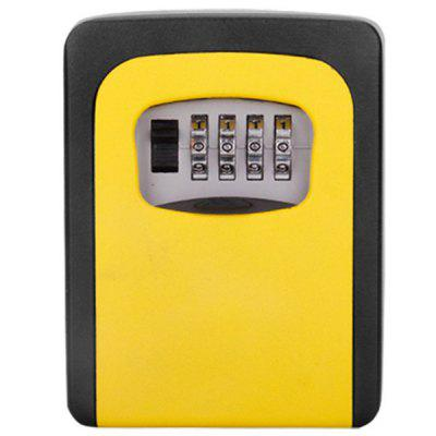 Home Decoration Wall-mounted Metal Key Box Household Password Lock