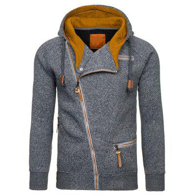 Bărbați  's Side Zipper Flannelette Hoodies