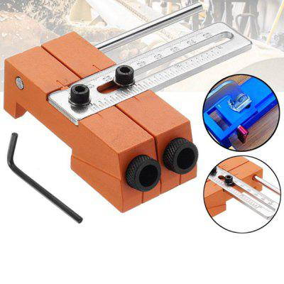 Adjustable DIY Woodworking Hole Drill Guide Locator Positioner Tool