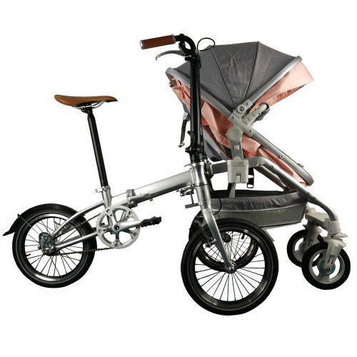 Alfawise Recreational Parent child Folding Bicycle