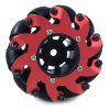 Toy Car Model Remote Control Robot Accessories Omnidirectional Mecanum Wheels - RED
