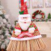 Creative Christmas Shopping Mall Hotel Holiday Home Dress Up Cleaning Tool Decoration - RED