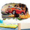 518 3D Off-road Car Broken Wall Decoration Stickers Club Wall Stickers - BEE YELLOW