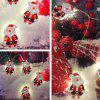 H54 Santa Claus String Lights Christmas Decroative Coloured Lamp - RUBY RED