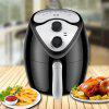 Household Large Capacity Intelligent Smokeless Electric Fryer - BLACK
