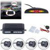 Crescent Head Buzzer Reversing Radar 4 Parking Sensor - BLACK