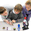 Children's Biology Science Microscope Set Experiment Toy - BLACK