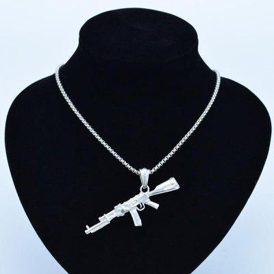 Personality Creative Men's Submachine Gun Rifle Pendant