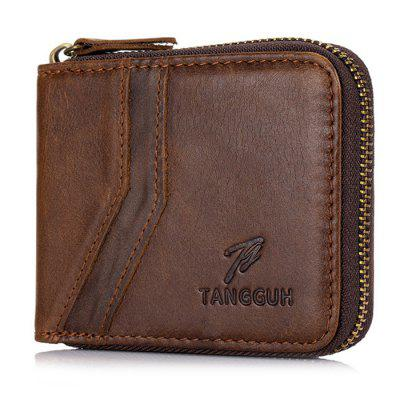 Tangguh 619 Leather Men's Retro Zipper Wallet