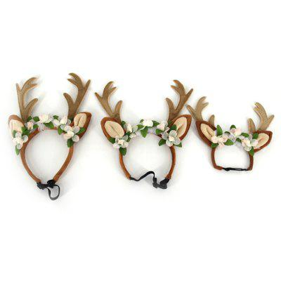 Christmas Antlers Pet Jóias Headband Fada Hat