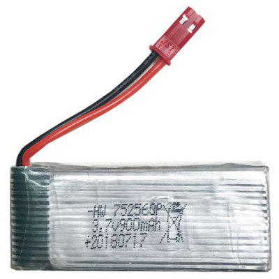 752560 3.7V - 900mAh-red Head JST Interface Polymer Rechargeable Lithium Battery