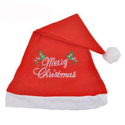 Children's Adult Embroidered Christmas Hat