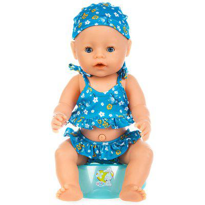43cm Reborn Baby Swimsuit Set Clothes