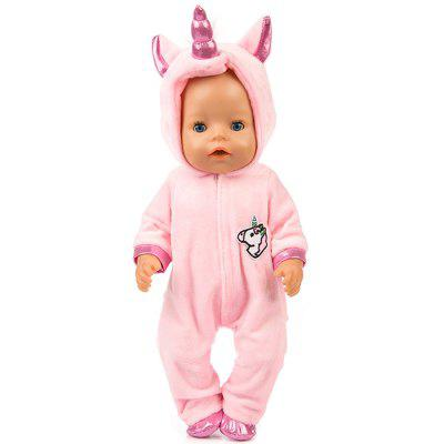 18 inch Simulation Baby Rebirth Doll Pony Clothes Set